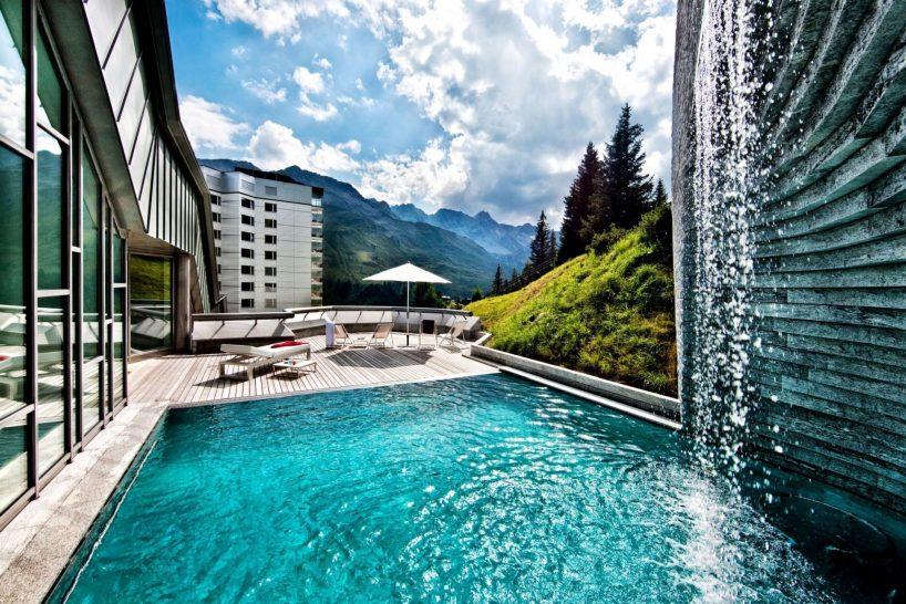 Tschuggen Grand Hotel Arosa Outdoor Pool