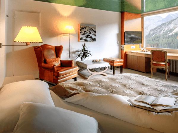 Tschuggen Grand Hotel Deluxe Queen Bed Rooms