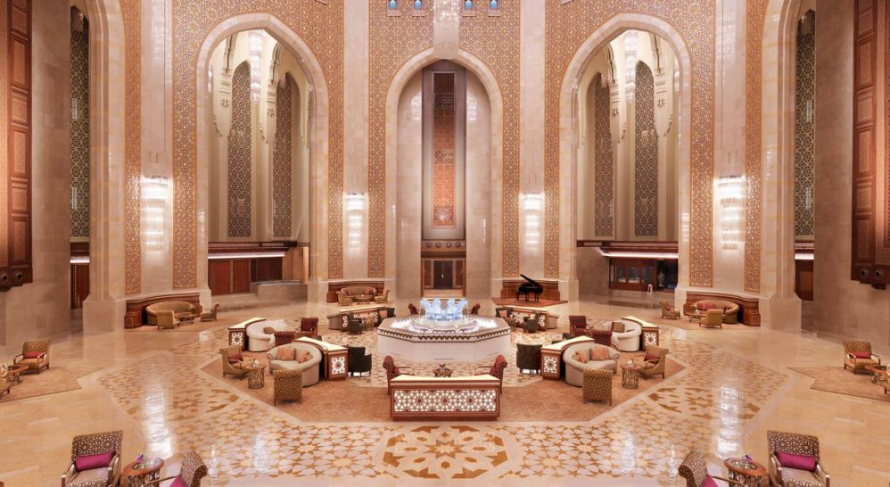 Al Bustan Palace A Ritz Carlton Hotel The Atrium Tea Lounge