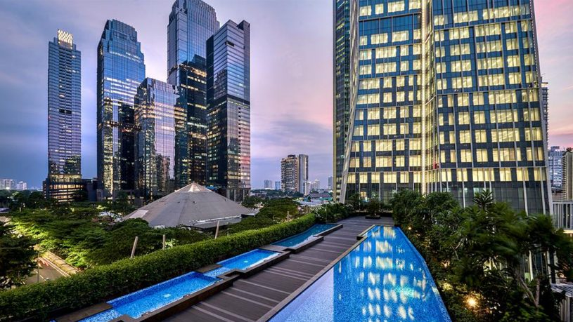 Alila SCBD Jakarta Night View