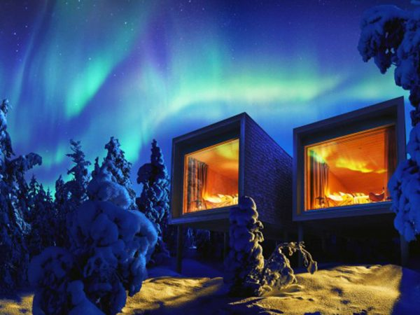 Arctic TreeHouse Hotel Exterior Night View