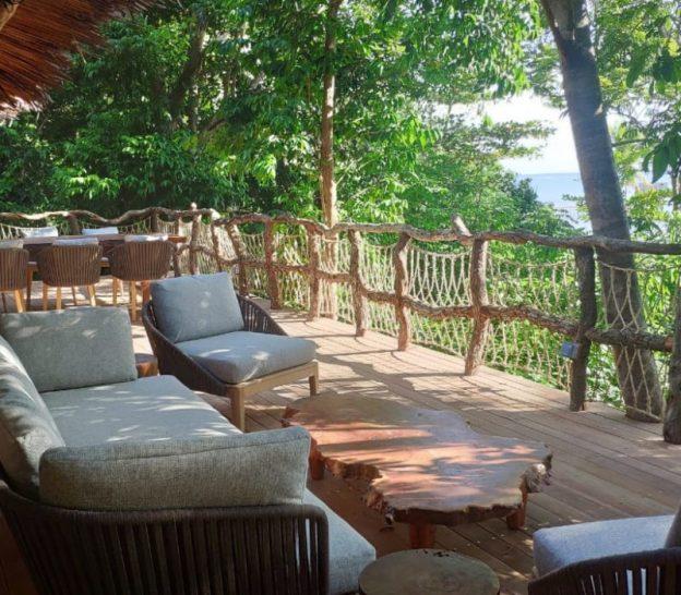 Bawah Reserve Jungle Lodge Balcony