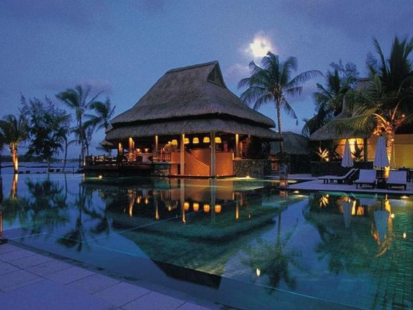Constance Halaveli Maldives Pool Night View
