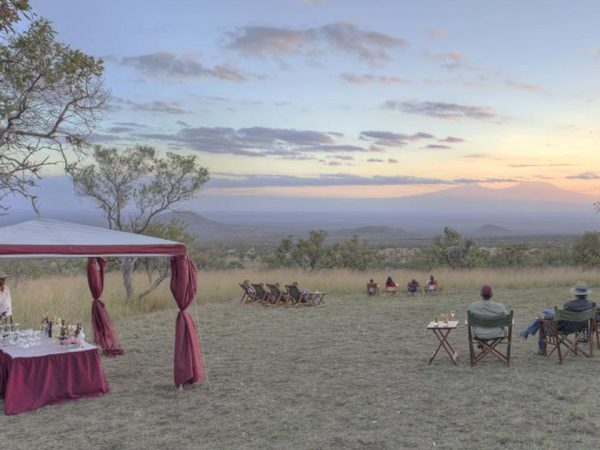 Finch Hattons Luxury Tented Camp Chyulu Sundowners