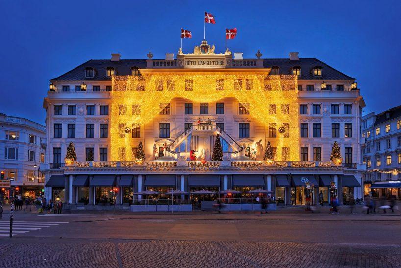 Hotel dAngleterre festive exterior
