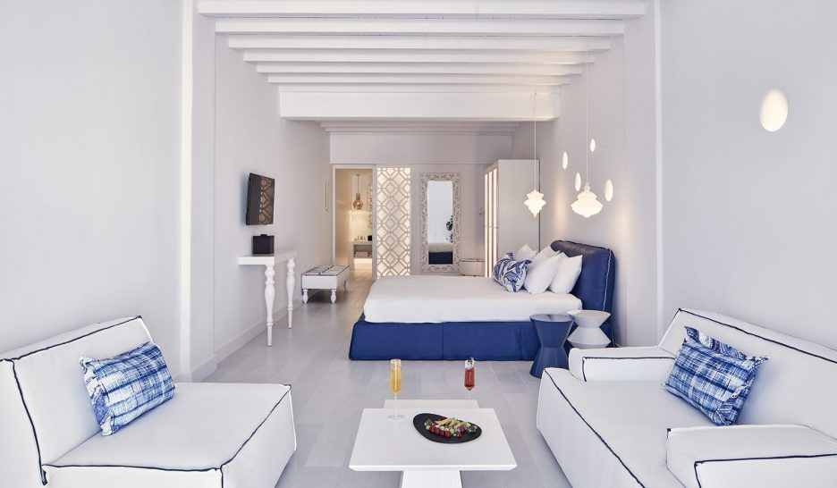 Katikies Mykonos Senior Suites With Open Air Jetted Tub