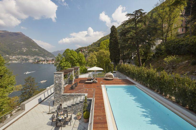 Mandarin Oriental Lago di Como Presidential Suite Terrace Pool