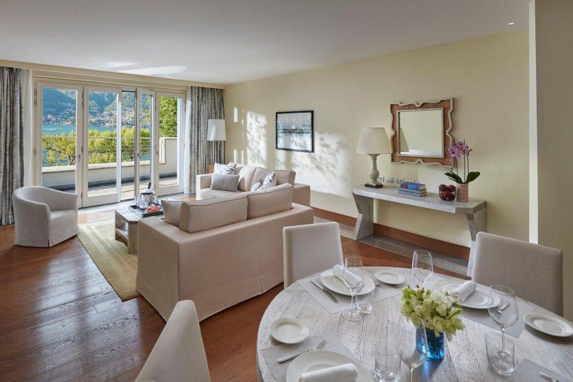 Mandarin Oriental Lago di Como Premier Suite Living Room