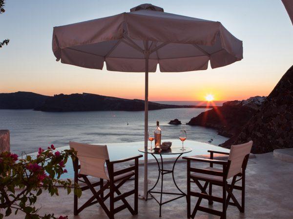 Perivolas Hotel Sunset VIew
