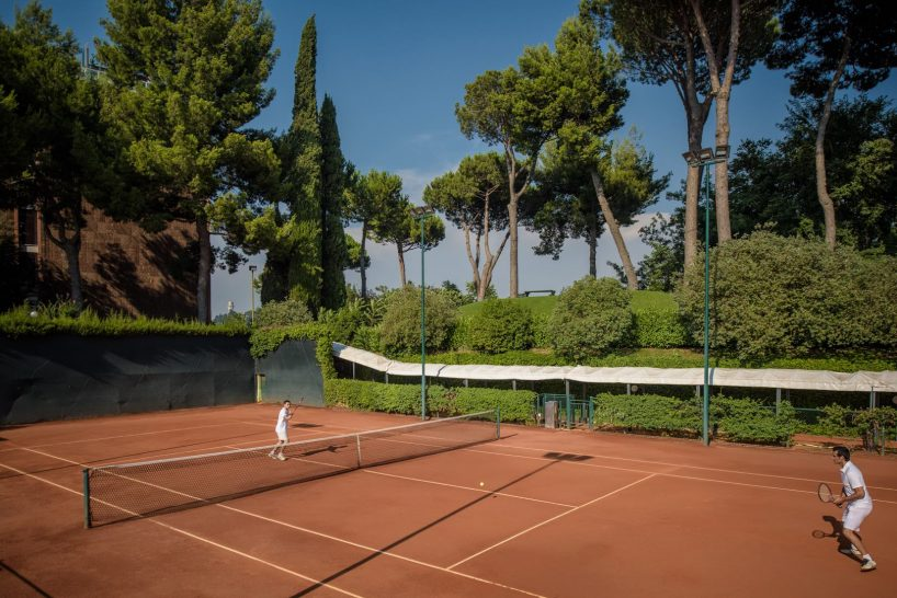 Rome Cavalieri A Waldorf Astoria Hotel Tennis Court