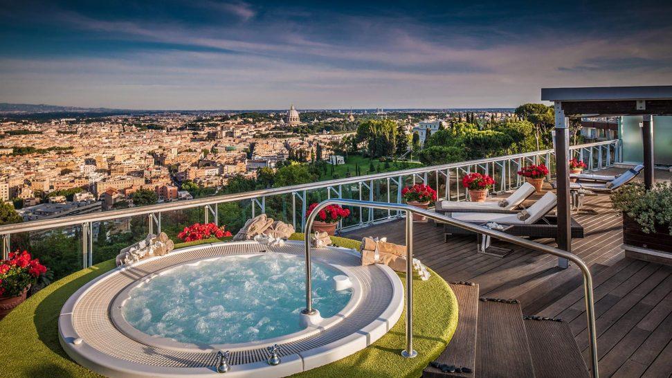 Rome Cavalieri Waldorf Astoria Resort Penthouse Suite Rooftop Terrace