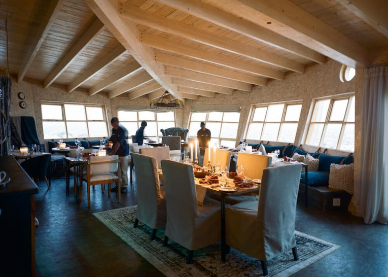 Shipwreck Lodge Skeleton Coast Dining Room