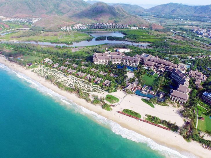 The Ritz Carlton Sanya Yalong Bay Aerial