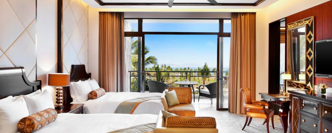 The St. Regis Sanya Yalong Bay Resort Deluxe Ocean Room Guest room, 2 Queen, Ocean view, Balcony