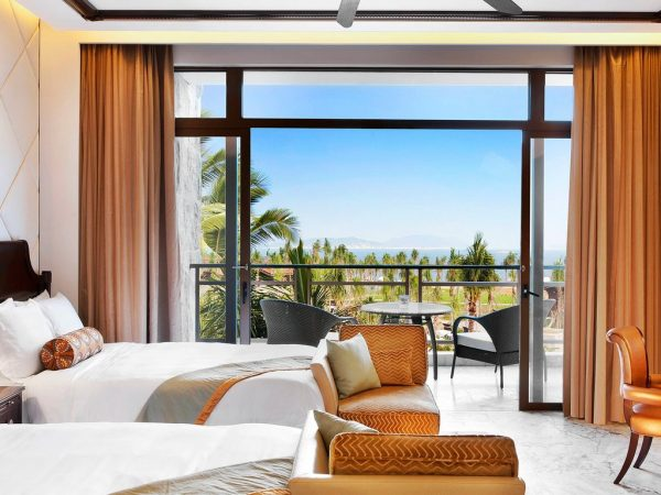 The St. Regis Sanya Yalong Bay Resort Grand Ocean Room Guest room, 2 Queen, Partial ocean view, Balcony