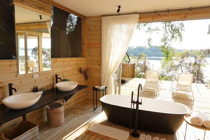 Victoria Falls Island Lodge Starbed Treehouse Bathroom