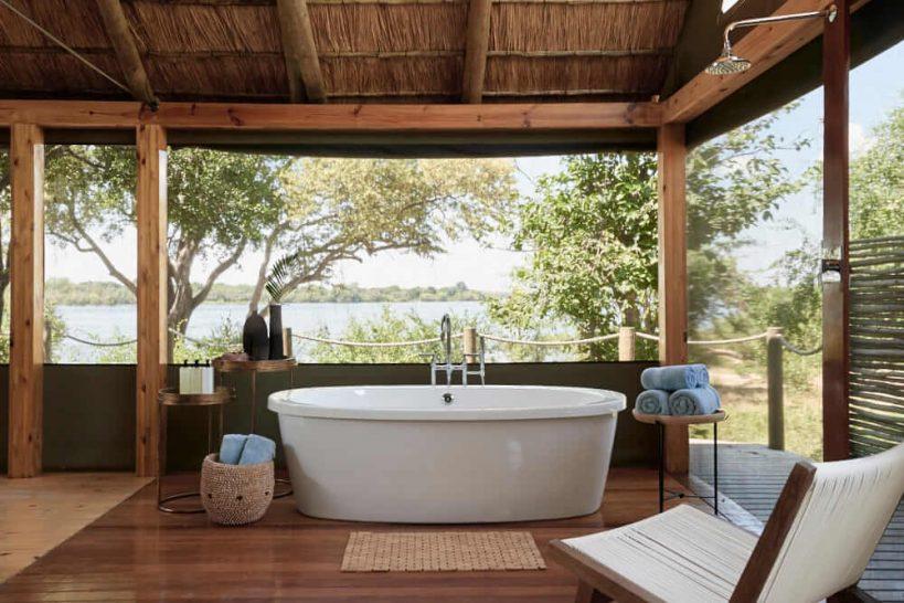 Victoria Falls River Lodge Luxury Tent Bath