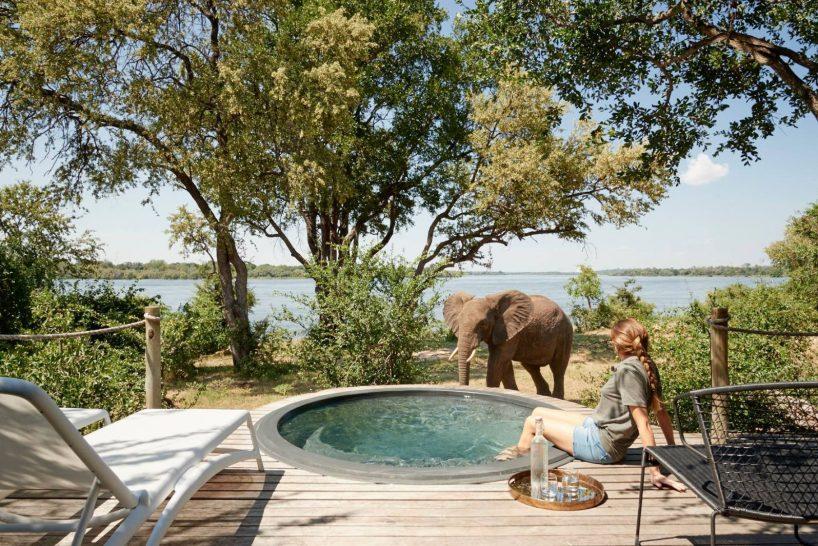 Victoria Falls River Lodge Luxury Tent Plunge Pool