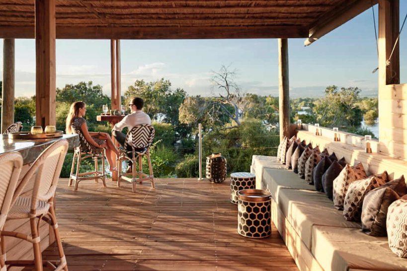 Victoria Falls River Lodge Sunset Bar Island Treehouse Suites