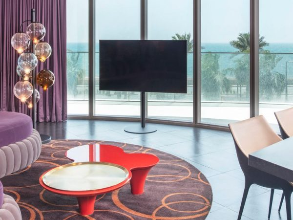W Dubai The Palm Cool Corner Suite 1 Bedroom Suite, 1 King, Ocean view, Balcony