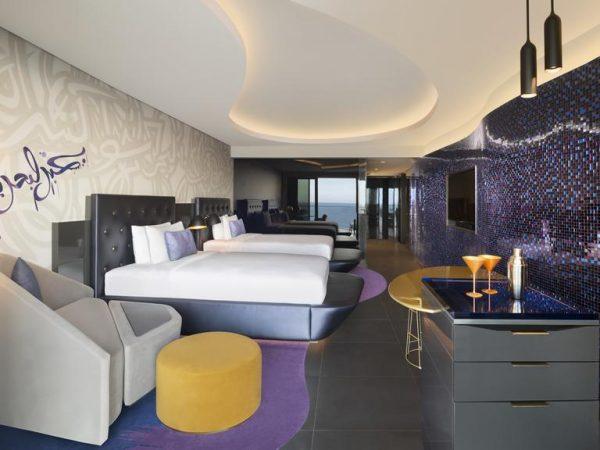 W Dubai The Palm Spectacular Room Guest room, 2 Double, Skyline view, Balcony