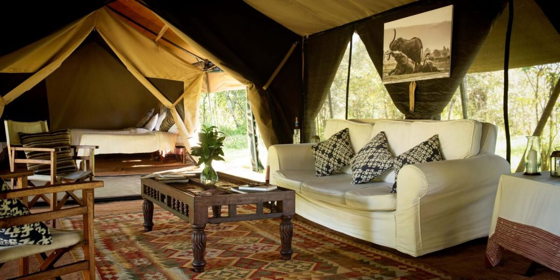 Alex Walker's Serian Nkorombo Mobile Camp Tent