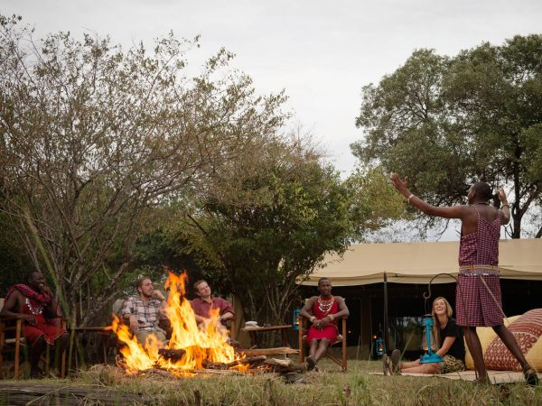 Alex Walker's Serian's Nkorombo Mobile Camp Sundowners