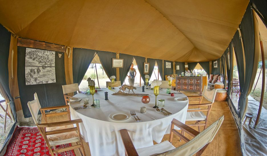 Alex Walker's Serian's Serengeti North Camp dining