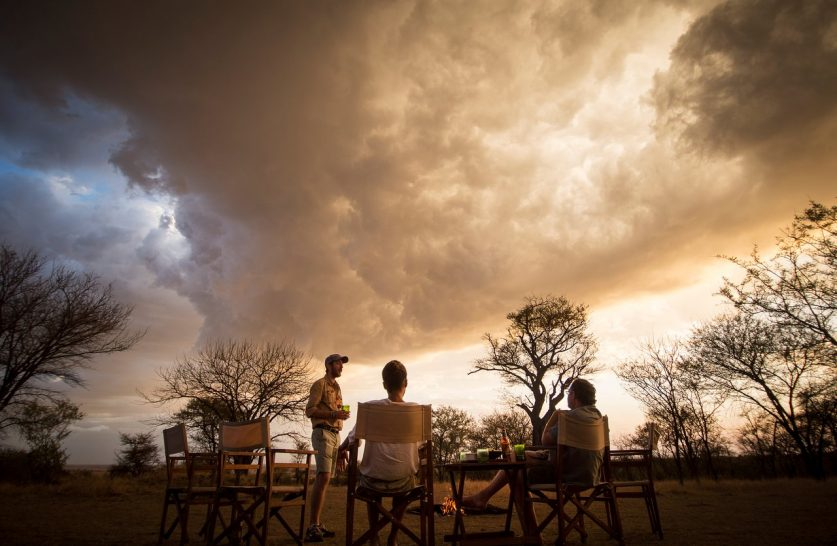 Alex Walker's Serian's Serengeti North Camp sunset drinks