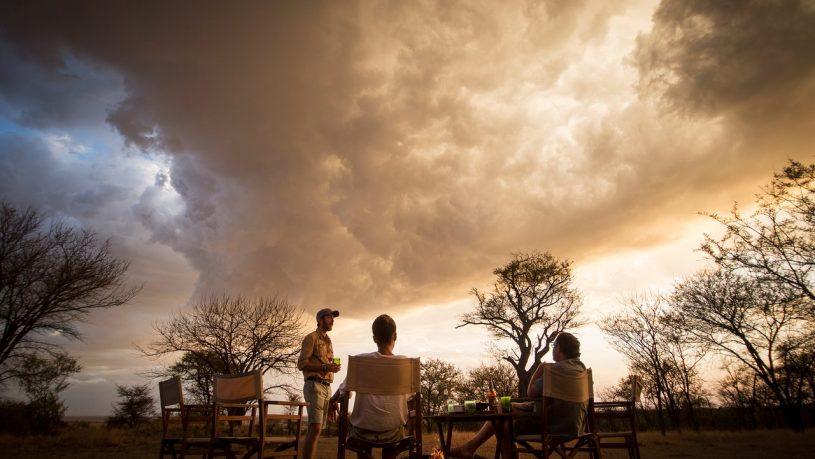 Alex Walker's Serian's Serengeti North Camp sunset drinks