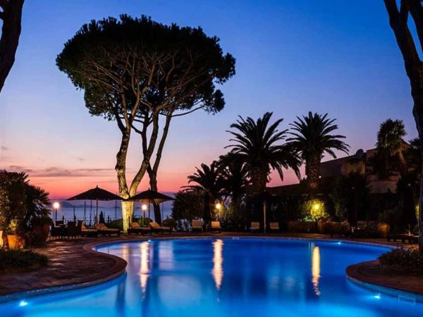 Baglioni Resort Cala del Porto Punta Ala Tuscany Pool Night View