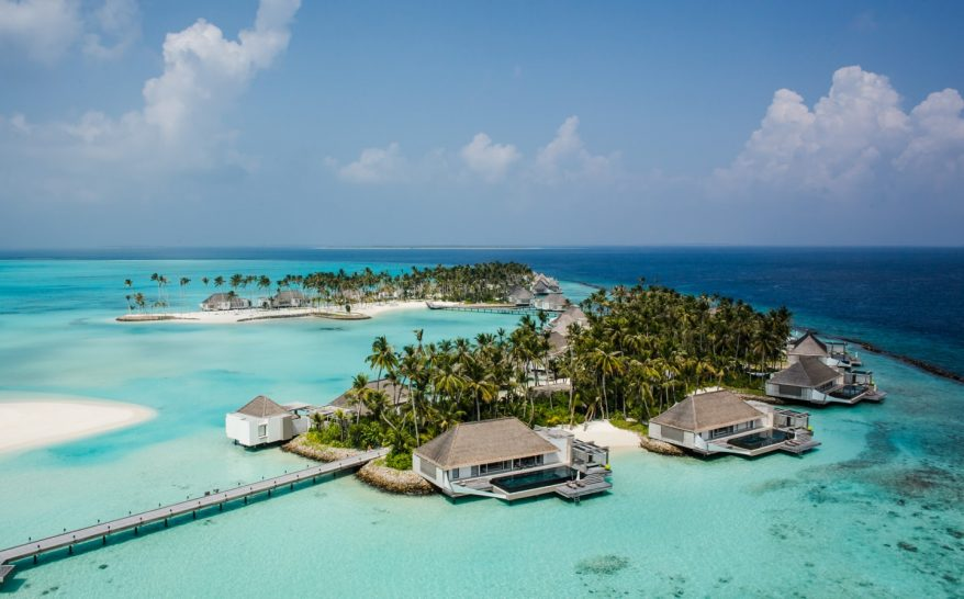Cheval Blanc randheli maldives water villas aerial