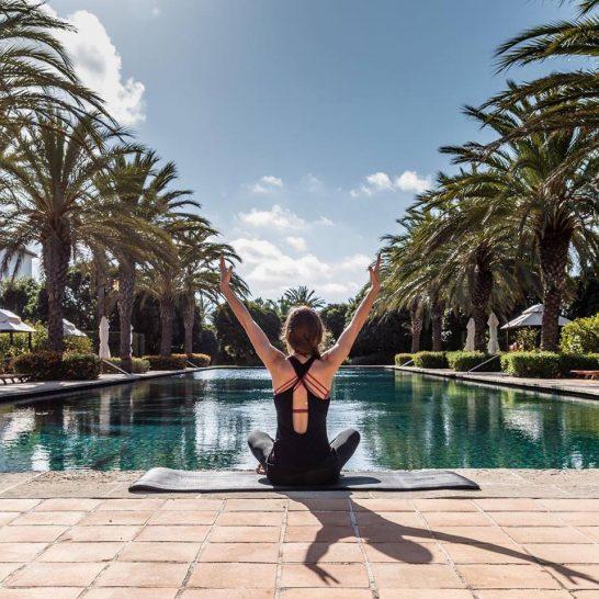 Finca Cortesin Hotel, Golf & Spa pool yoga