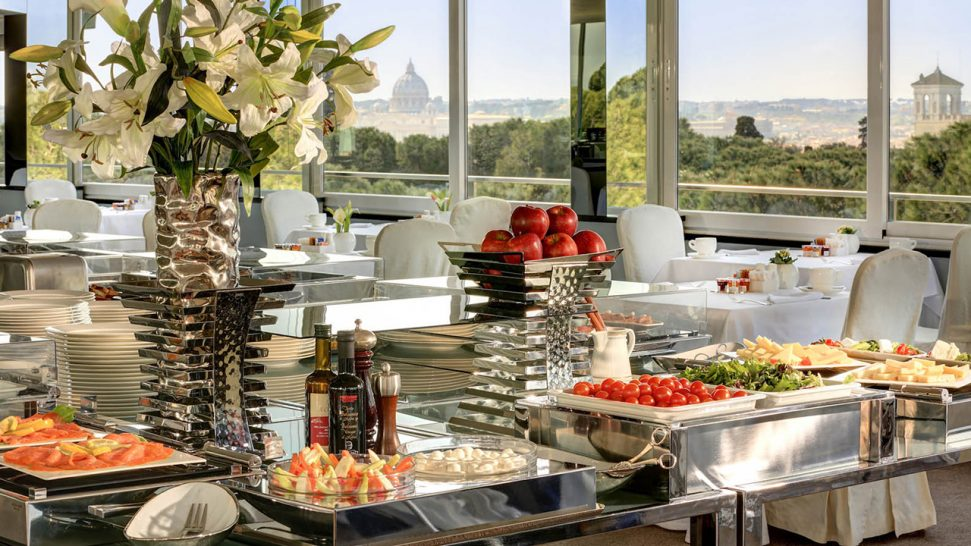 Hotel Splendide Royal Rome Breakfast at the Crystal Lounge
