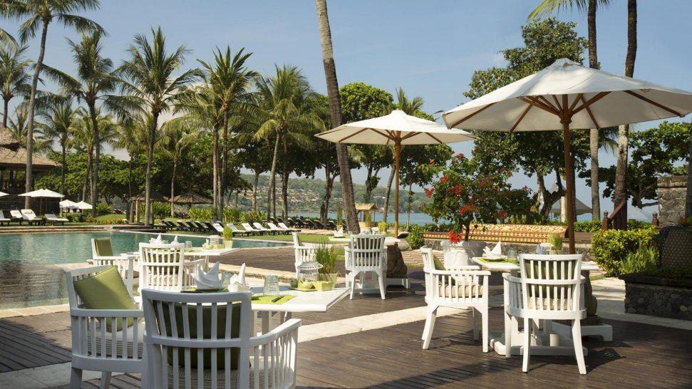 Intercontinental Bali Resort Main pool deck dining