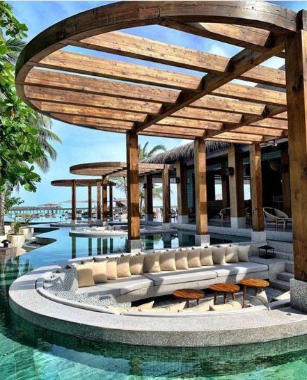 Joali maldives pool mura bar