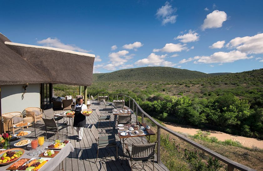 Kwandwe Great Fish River Lodge Dining Deck