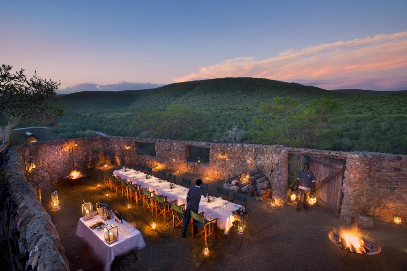 Kwandwe Great Fish River Lodge Dining Outdoor