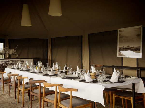 Namiri Plains Camp Dining