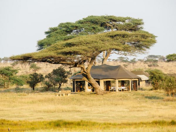 Namiri Plains Camp Exterior