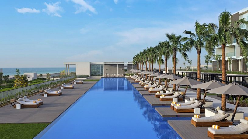 Oberoi beach resort al zorah uae pool