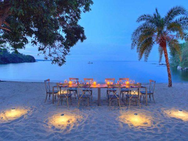 Rubondo Island Beach Dinner