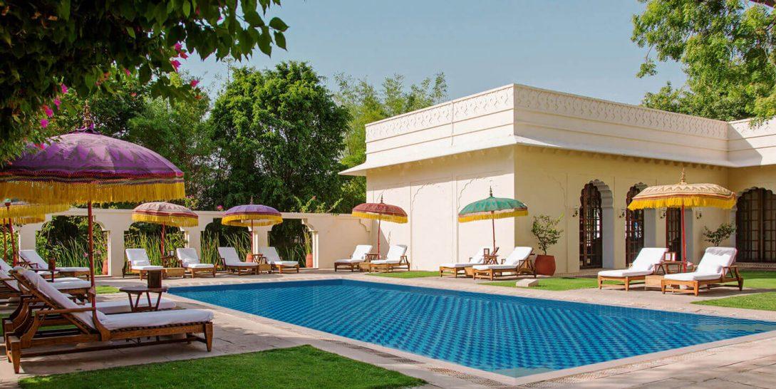 The Oberoi Vanyavilas outdoor pool
