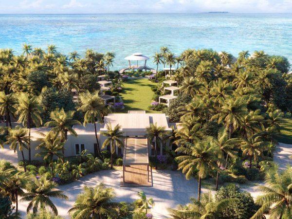 Waldorf Astoria Maldives Ithaafushi Arial View