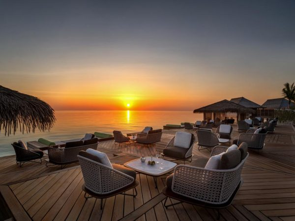 Waldorf Astoria Maldives Ithaafushi Tasting Table Sunset
