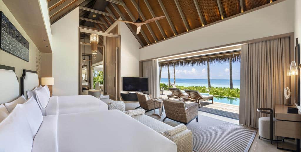Waldorf Astoria Maldives Ithaafushi Two Queen Bedded Beach Villa with Pool