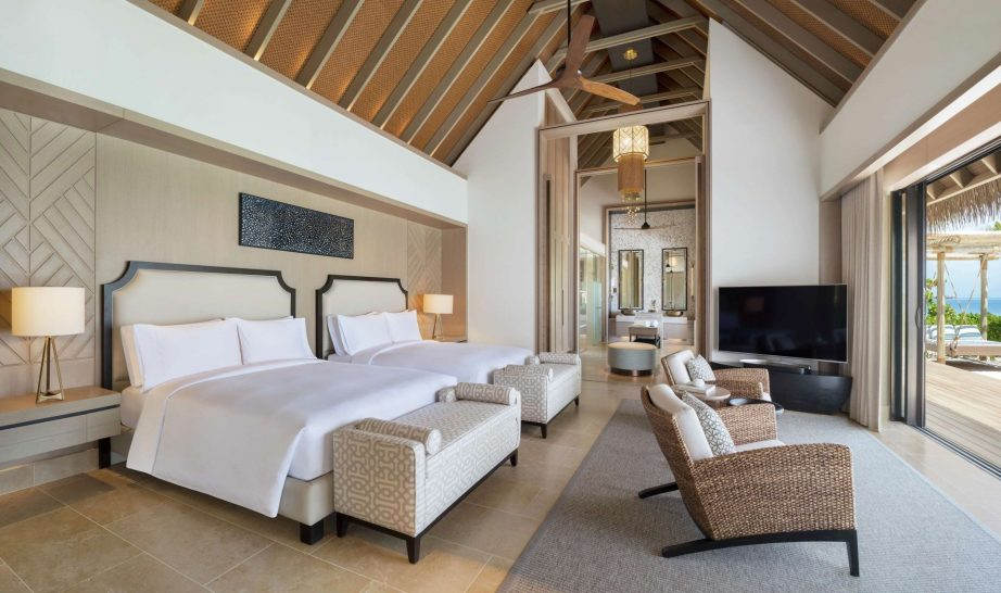 Waldorf Astoria Maldives Ithaafushi Two Queen Bedded Grand Beach Villa with Pool