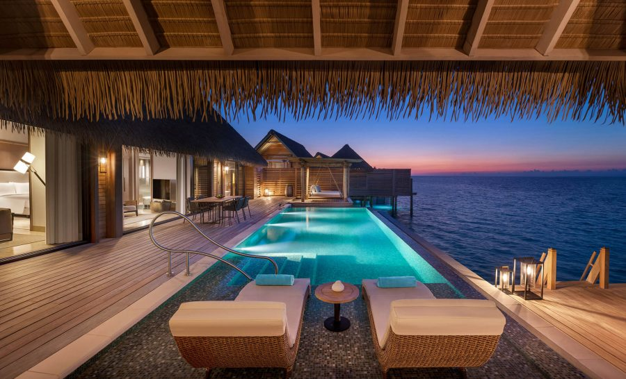 Waldorf Astoria Maldives Ithaafushi Two Queen Bedded Grand Overwater Villa with Pool