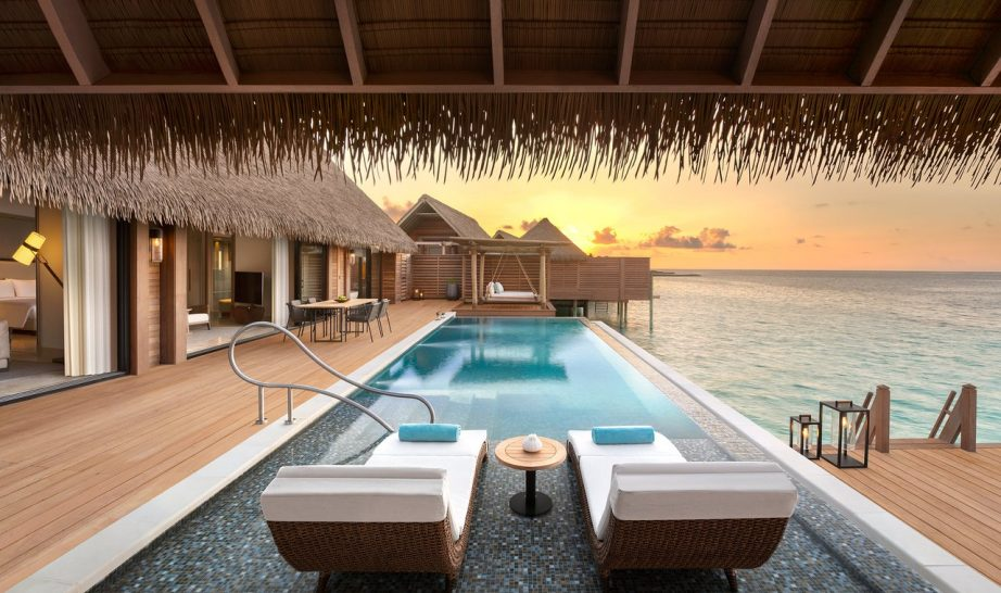 Waldorf Astoria Maldives Ithaafushi king grand overwater bungalow w pool