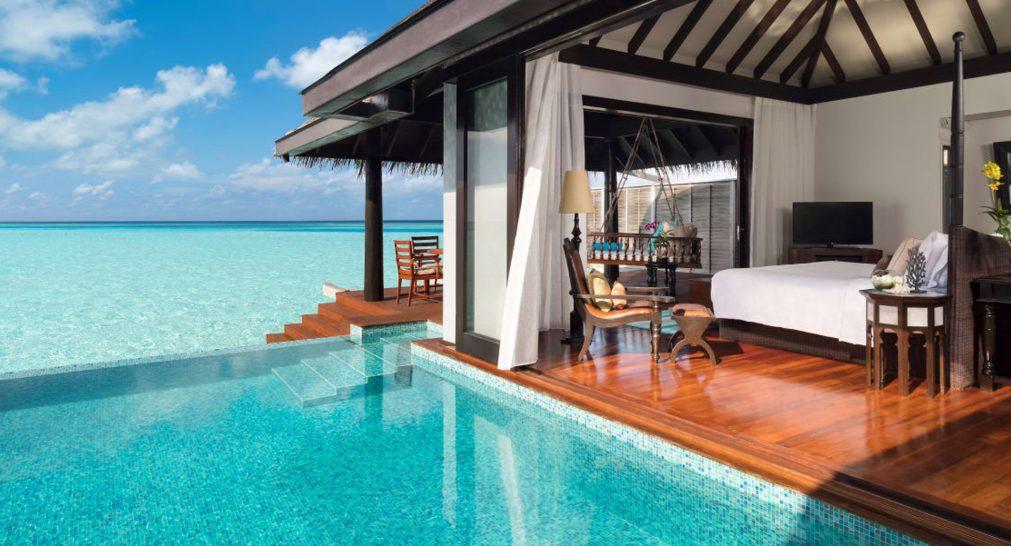 Anantara Kihavah Maldives Villas Sunset Over Water Pool Villa